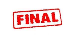 Finał- to już jest koniec...